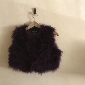 Purple Feather Vest
